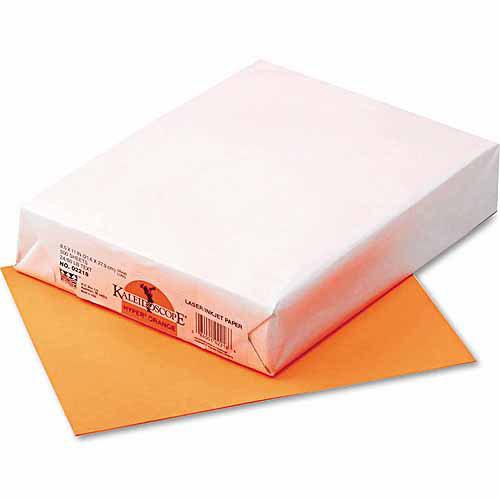 "Pacon Kaleidoscope Multipurpose Colored Paper, 8.5"" x 11"", Orange, 500 Sheets"