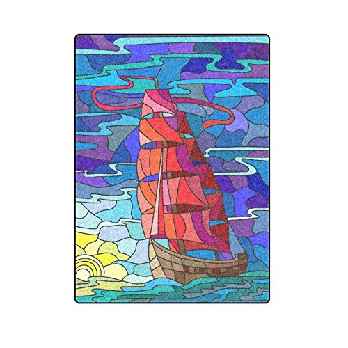 CADecor The Sailboat Against The Sky The Sea Couch Sofa or Bed Fleece Blanket Throw 58x80 inches