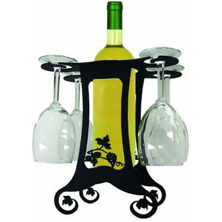 Village Wrought Iron WRC-B-157 Grapevine Design - Wine Holder
