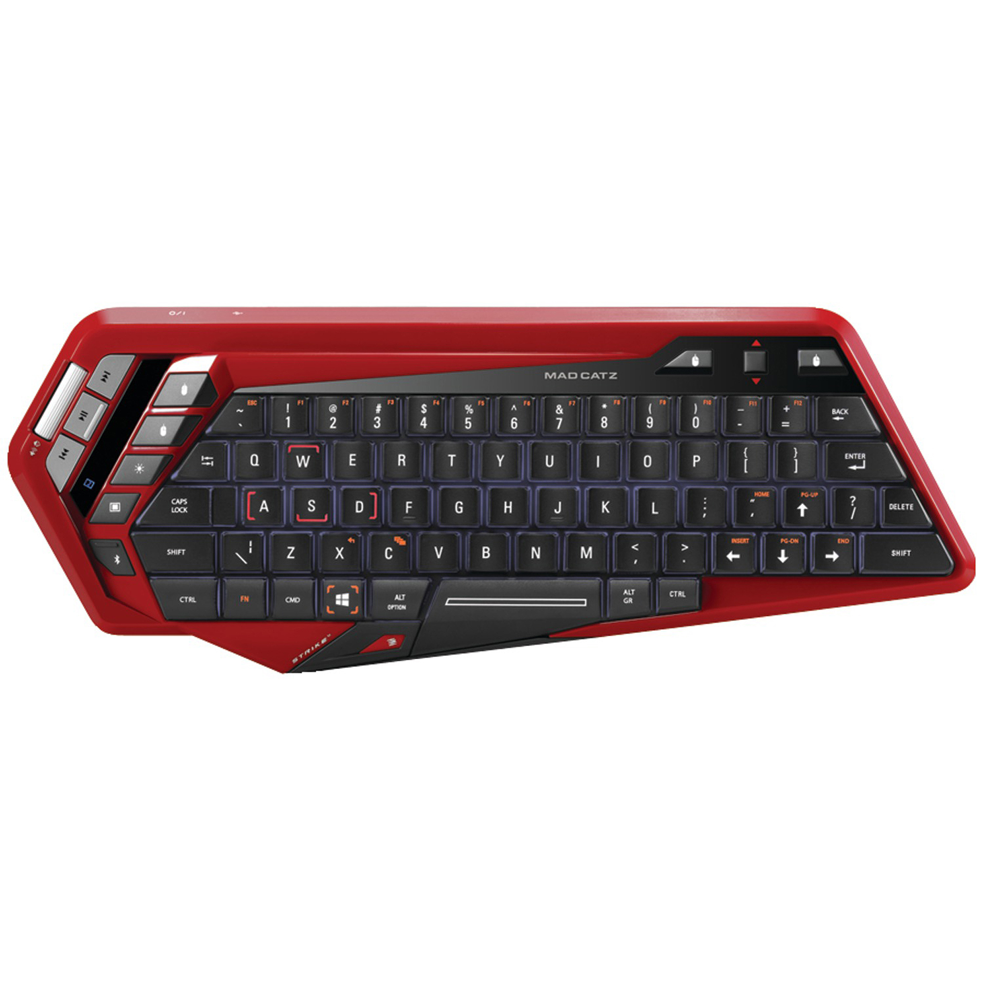 Mad Catz S.T.R.I.K.E. M Mobile Gaming Keyboard, Red