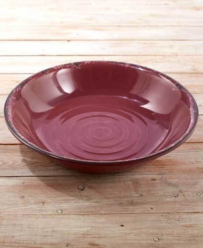 Rustic Melamine Serving Bowls. Vintage Distressed Tableware. Plum.. oversized vintage style Bowl  sc 1 st  Walmart & Rustic Melamine Serving Bowls. Vintage Distressed Tableware. Plum ...