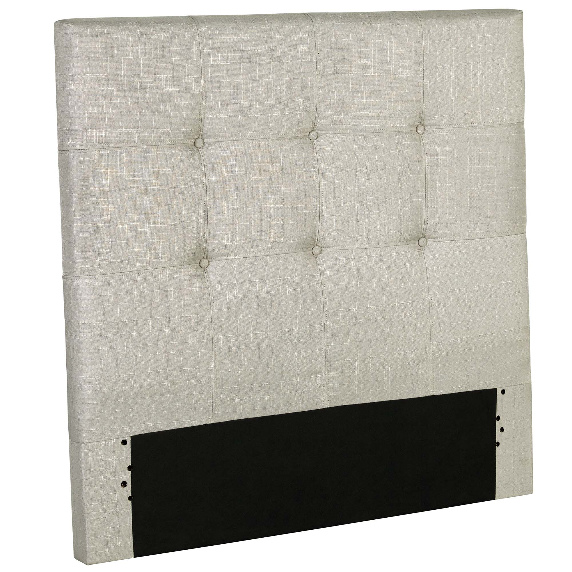 Henley Upholstered Kids Headboard Panel with Button Tufted Design, Cloud Grey Finish, Twin