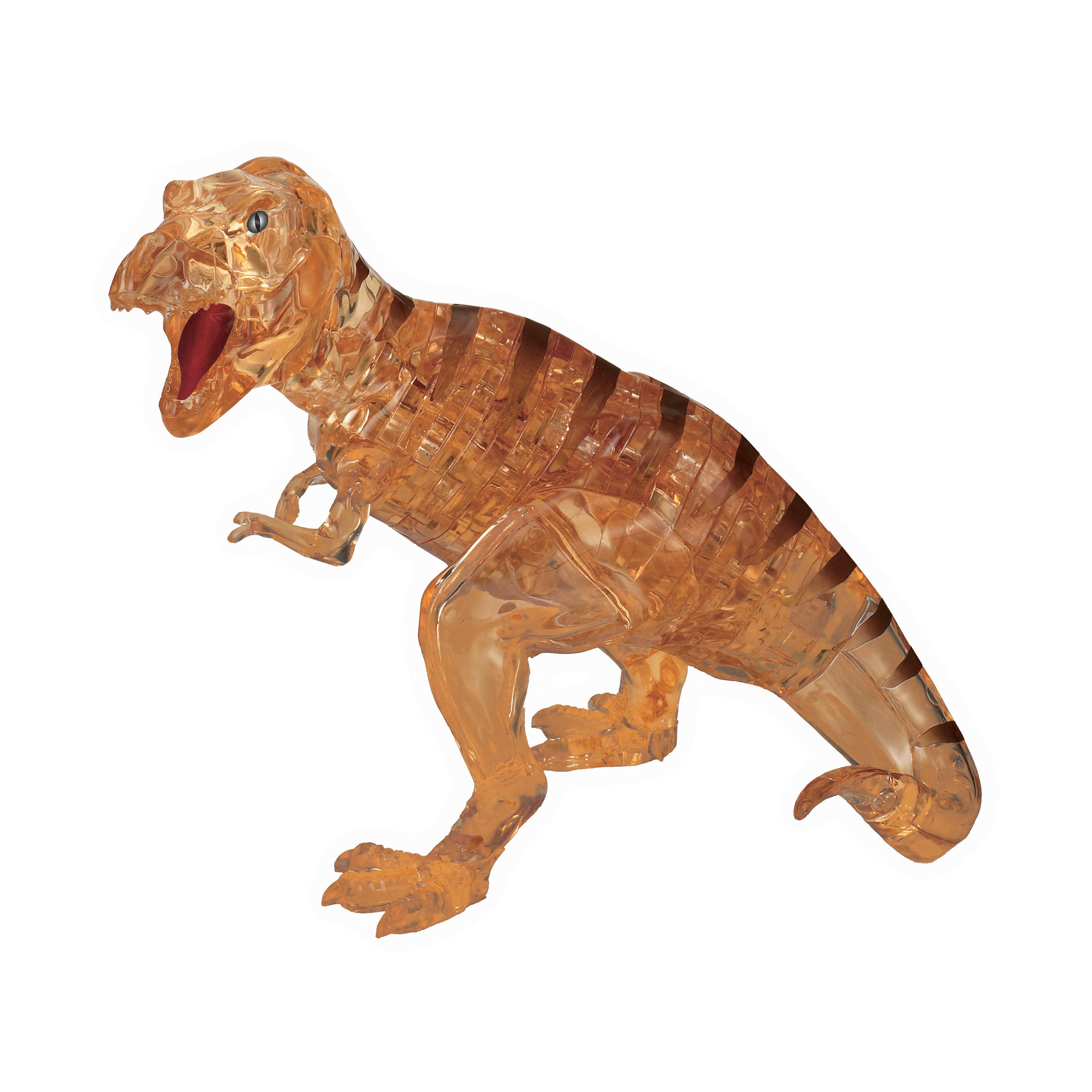 Deluxe 3D Crystal Puzzle - T-Rex (Brown), 49 Pcs