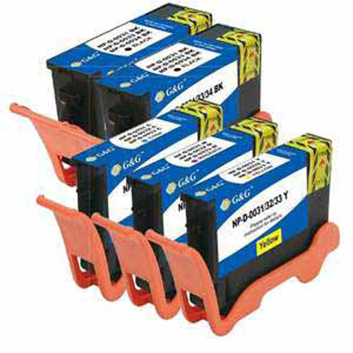 Universal Inkjet Compatible Multipack for Dell Series 31, 32, 33, 34, Extra-High-Capacity, 5-Pack