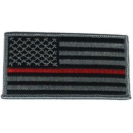 THIN RED LINE FIREFIGHTER SUPPORT FLAG PATCH FIRST RESPONDER RESCUE US AMERICAN