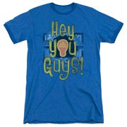 Electric Company Hey You Guys Mens Adult Heather Ringer Shirt