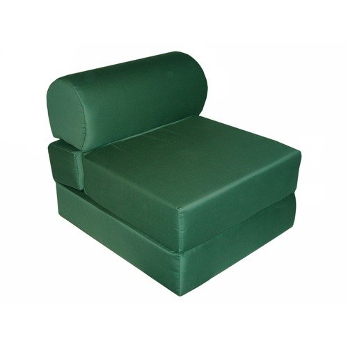 Elite Products Hunter Green Jr. Twin Foam Sleeper Chair (Poly-Cotton)