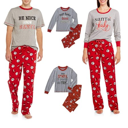 5ba5ff112 Pettstore Cotton Parent-Child Outfit Santa Pyjamas Set Family Suit ...
