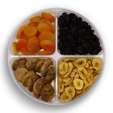 Halloween Fruit Basket Ideas (Gourmet Nuts Gift Baskets 4-Sectional Healthy Fresh Gift Idea For Christmas, Thanksgiving, Mothers , Fathers Day, And Birthday(4 Cell Fruit) Natural 4 Cell Fruits &)
