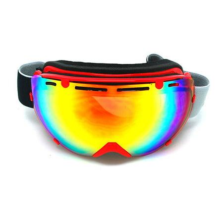 1Storm Adult Snowboard Ski Goggle Anti-Fog Detachable Dual Layer Double Lens Tinted, UV400 Protection,