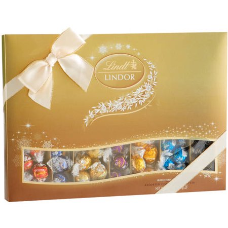 Lindt Lindor Assorted Chocolate Truffles Holiday Gift, 20.7 oz