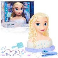 Disneys Frozen 2 Deluxe Elsa the Snow Queen Styling Head, 17-pieces, Ages 3+