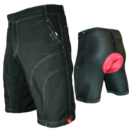 THE PUB CRAWLER - Men's Loose-Fit Bike Shorts for Commuter Cycling or Mountain Biking, with Secure Pockets and padded undershorts ()