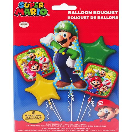 Luiji of Super Mario Character Authentic Licensed Theme Foil Balloon - Mario Balloon