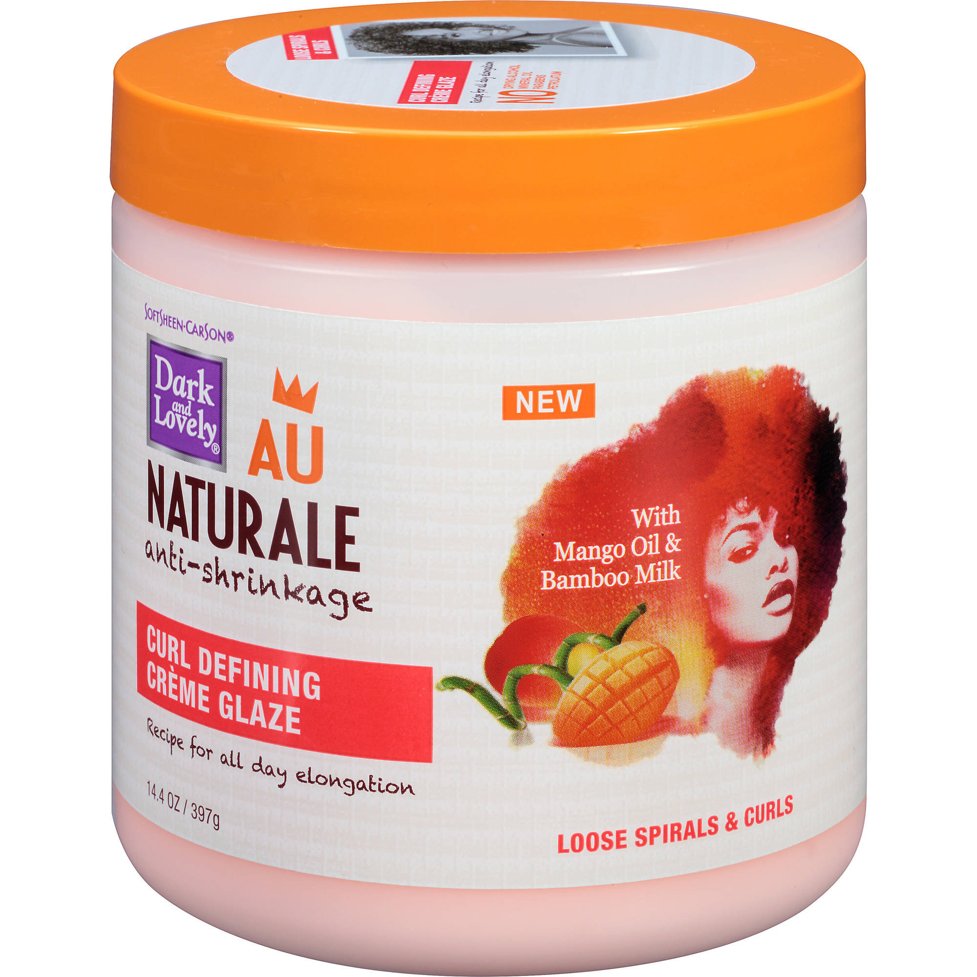 Dark & Lovely Au Naturale Anti-Shrinkage Curl Defining Creme, 14.4 oz