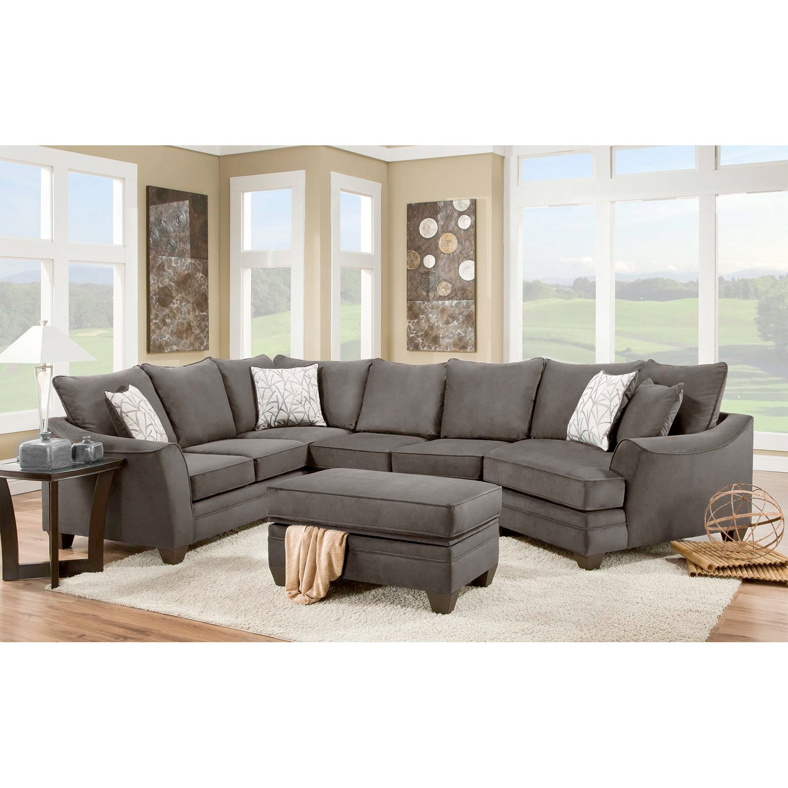 Chelsea Home Furniture Cupertino 3 Piece Sectional Sofa Walmart Com