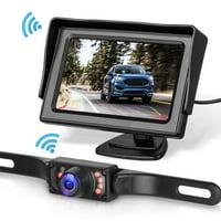 Backup Camera,EEEkit Car Rear View Reverse Backup Camera License Plate Monitor Kit,Night Vision with 4.3'' Monitor System
