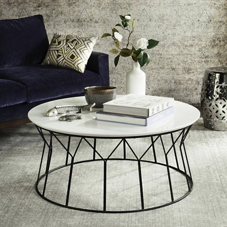 Safavieh Deion 35 Round Retro Mid Century Coffee Table Multiple Colors