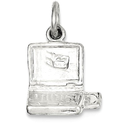Sterling 925 Charm Pendant - ICE CARATS 925 Sterling Silver Laptop Computer Pendant Charm Necklace Career Professional Office Fine Jewelry Ideal Gifts For Women Gift Set From Heart