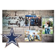"Dallas Cowboys 11"" x 19"" I Love My Family Clip Photo Frame"