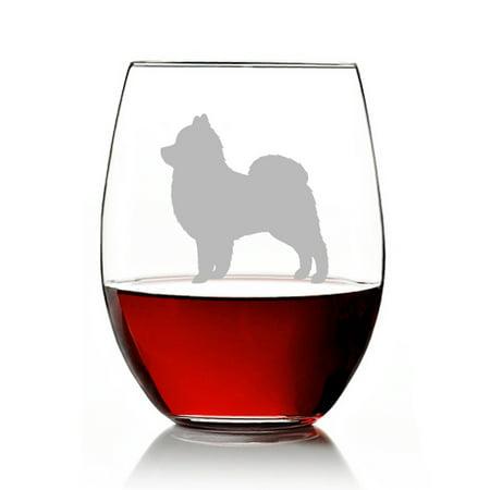 Pomeranian Dog Breed Engraved Stemless 15oz Wine