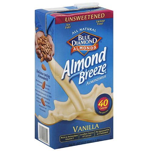 Blue Diamond Almond Breeze Vanilla Almondmilk, 64 fl oz, (Pack of 8)