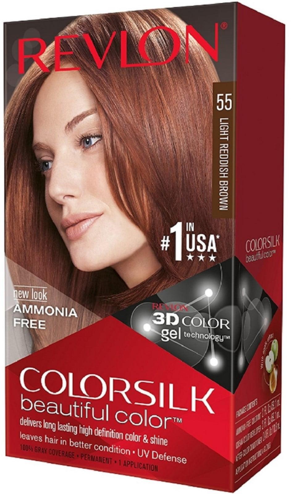 Revlon Colorsilk Hair Color 55 Light Reddish Brown 1 Each