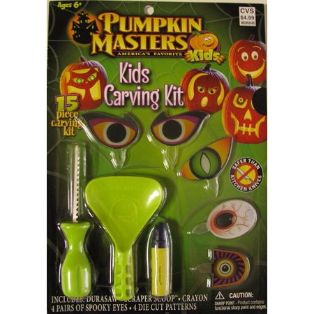 Pumpkin Masters 'Kids Pumpkin Carving Kit' 15 Piece - Halloween Pumpkin Ideas Without Carving