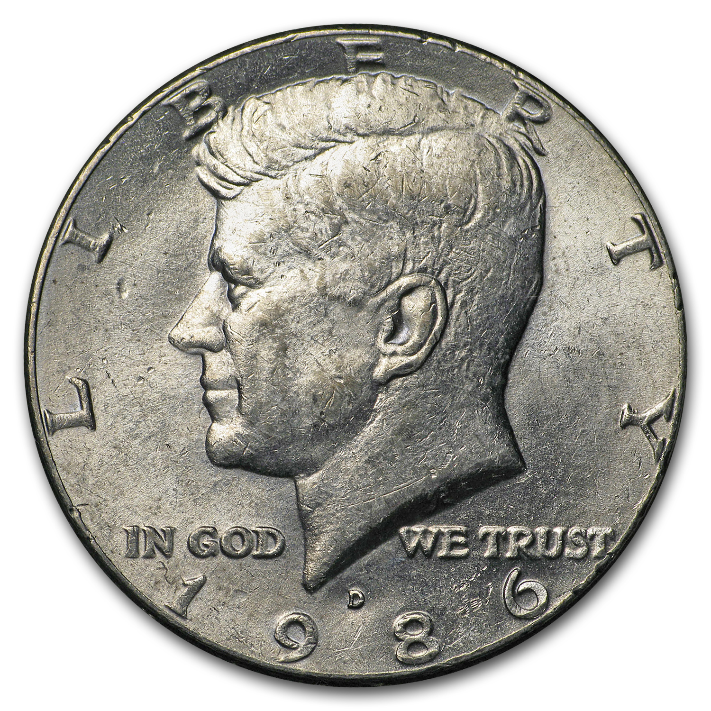 1986-D Kennedy Half Dollar BU