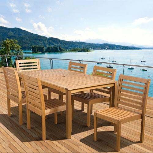 Amazonia  Amelia Eucalyptus Wood 7-piece Outdoor Dining Set