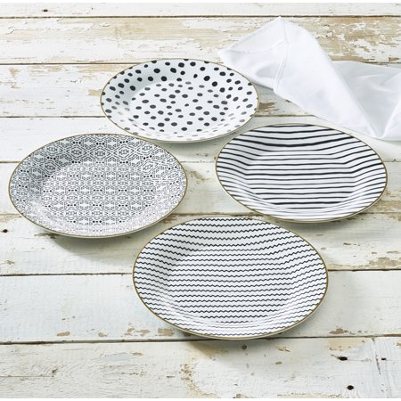 Wild Animal Collection Porcelain Side Plate 4-Pack, Walmart Exclusive (Porcelain Plates)