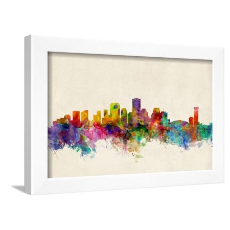 New Orleans Louisiana Skyline Framed Print Wall Art By Michael ...
