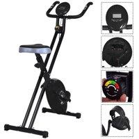 Resistance Adjustable Folding Magnetic Exercise Bike - Black