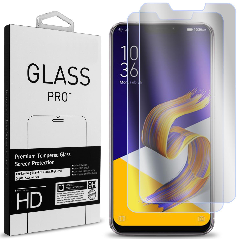 2 Pack of CoverON Asus ZenFone 5 / ZenFone 5z (ZS620KL / ZE620KL) Tempered Glass Screen Protectors - Premium Grade 9H Tough - HD Clear