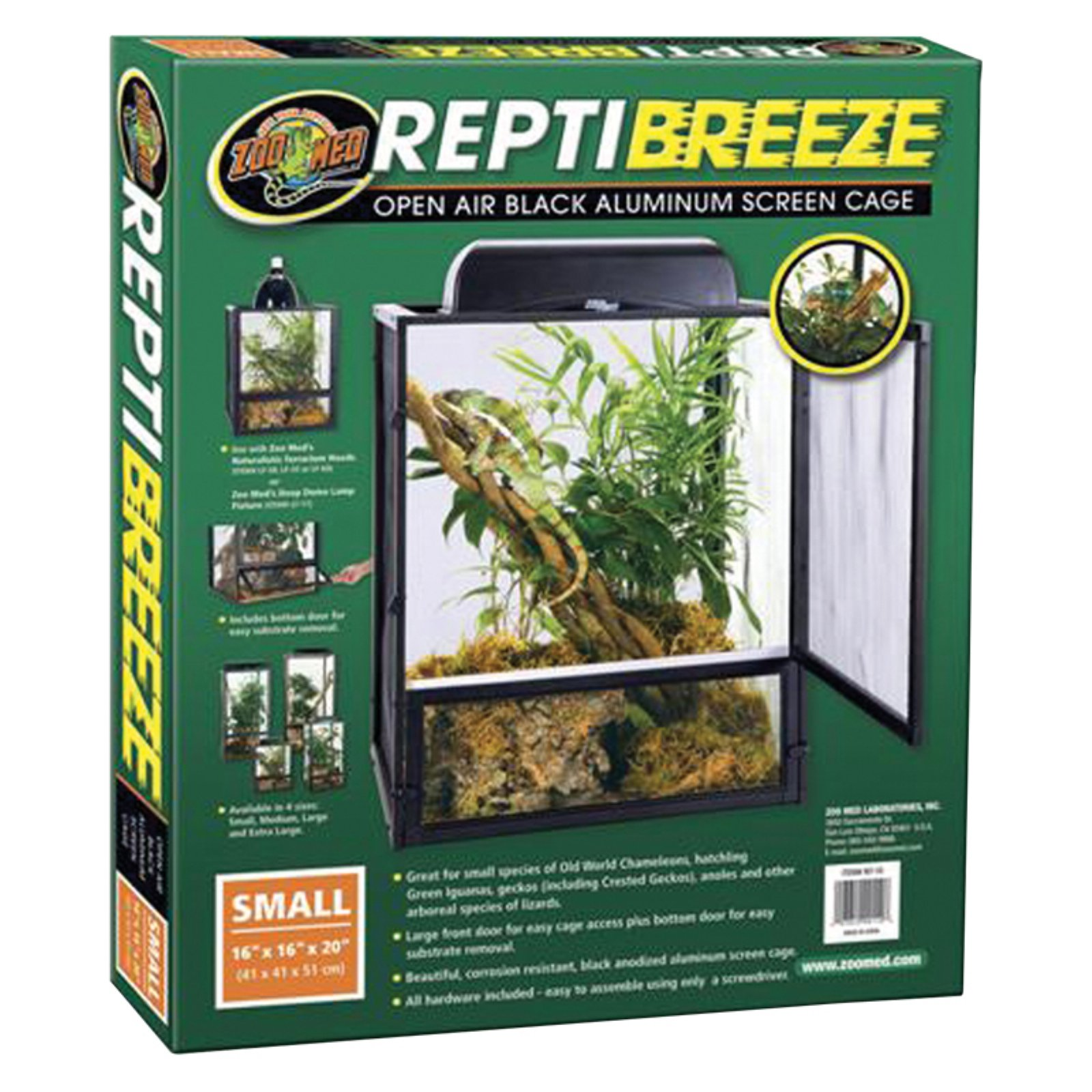 Zoo Med Reptibreeze Screen Cage by ZOO MED LABS INC