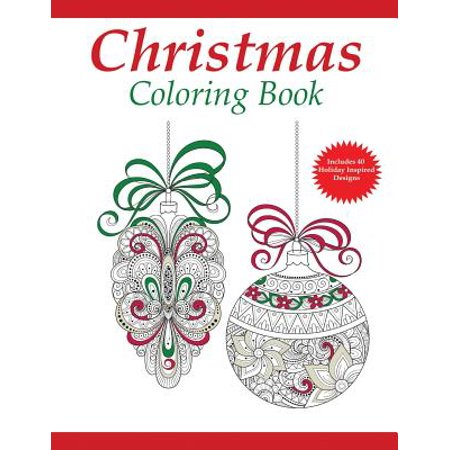 Christmas coloring book a holiday coloring book for Coloring book for adults walmart