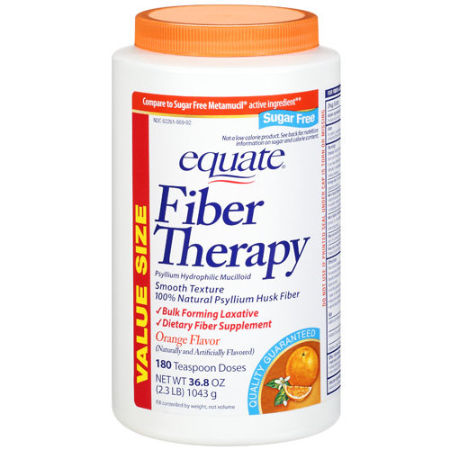 Equate Fiber Sugar Free Orange (NBE) to Metamucil Fiber Powder Orange Sugar Free