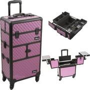 Sunrise I3264DMPLB Purple Dmnd Trolley Makeup Case - I3264