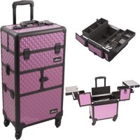 5f5d6c623e Product Image Sunrise I3264DMPLB Purple Dmnd Trolley Makeup Case - I3264