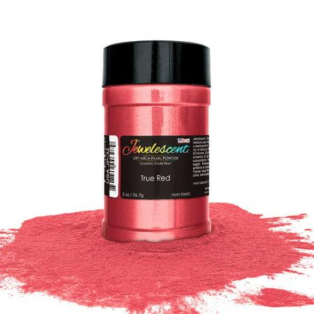U.S. Art Supply Jewelescent True Red Mica Pearl Powder Pigment, 2 oz (57g)  Bottle - Non-Toxic Metallic Color Dye