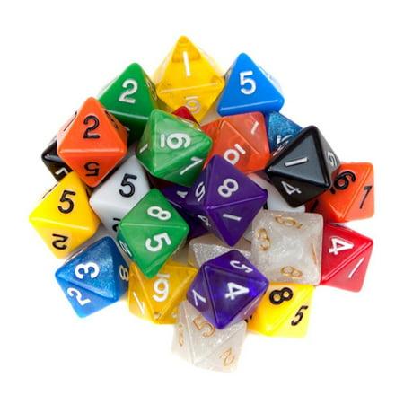 Wiz Dice Random D8 Polyhedral Dice, 25-pack