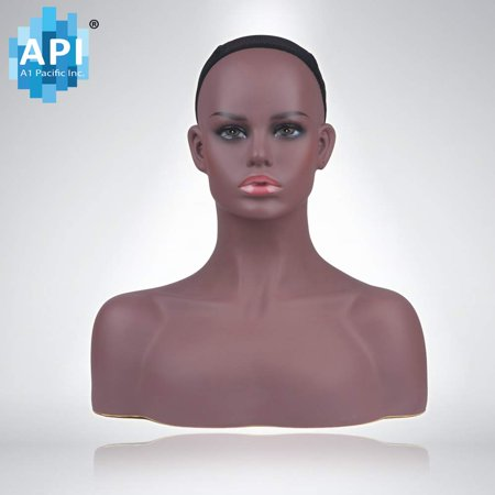 Shoulder Manikin - Female Life size Mannequin Head with Shoulder Bust Wigs Hats Sunglasses Jewelry Display DB 7645