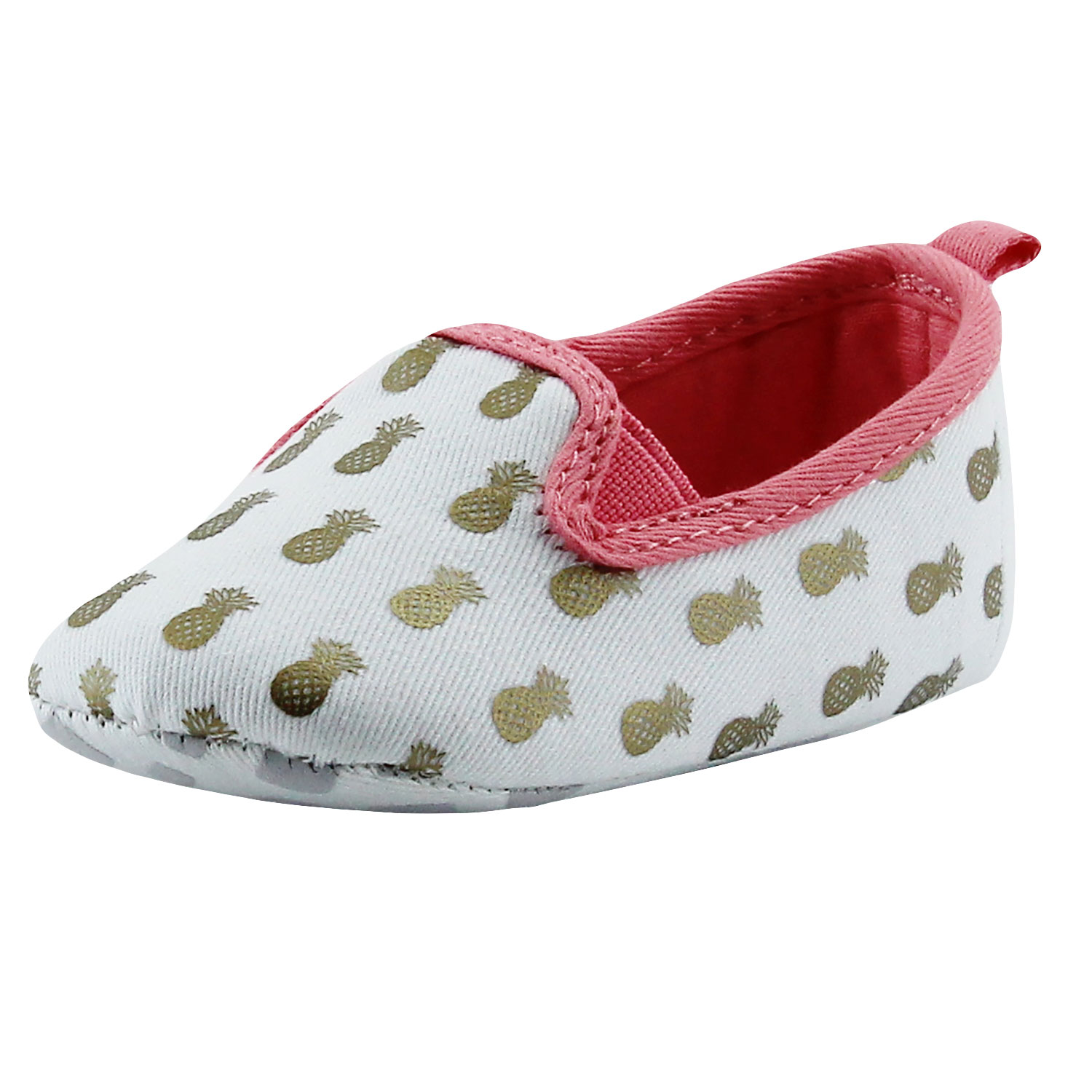 Rosie Pope Pineapple Mania Slip on Sneakers 0 3 Months Infant Crib