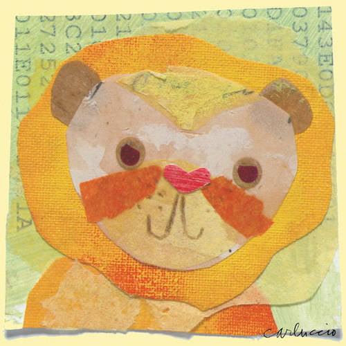 Oopsy Daisy - Canvas Wall Art Lion 10x10 By Maria Carluccio