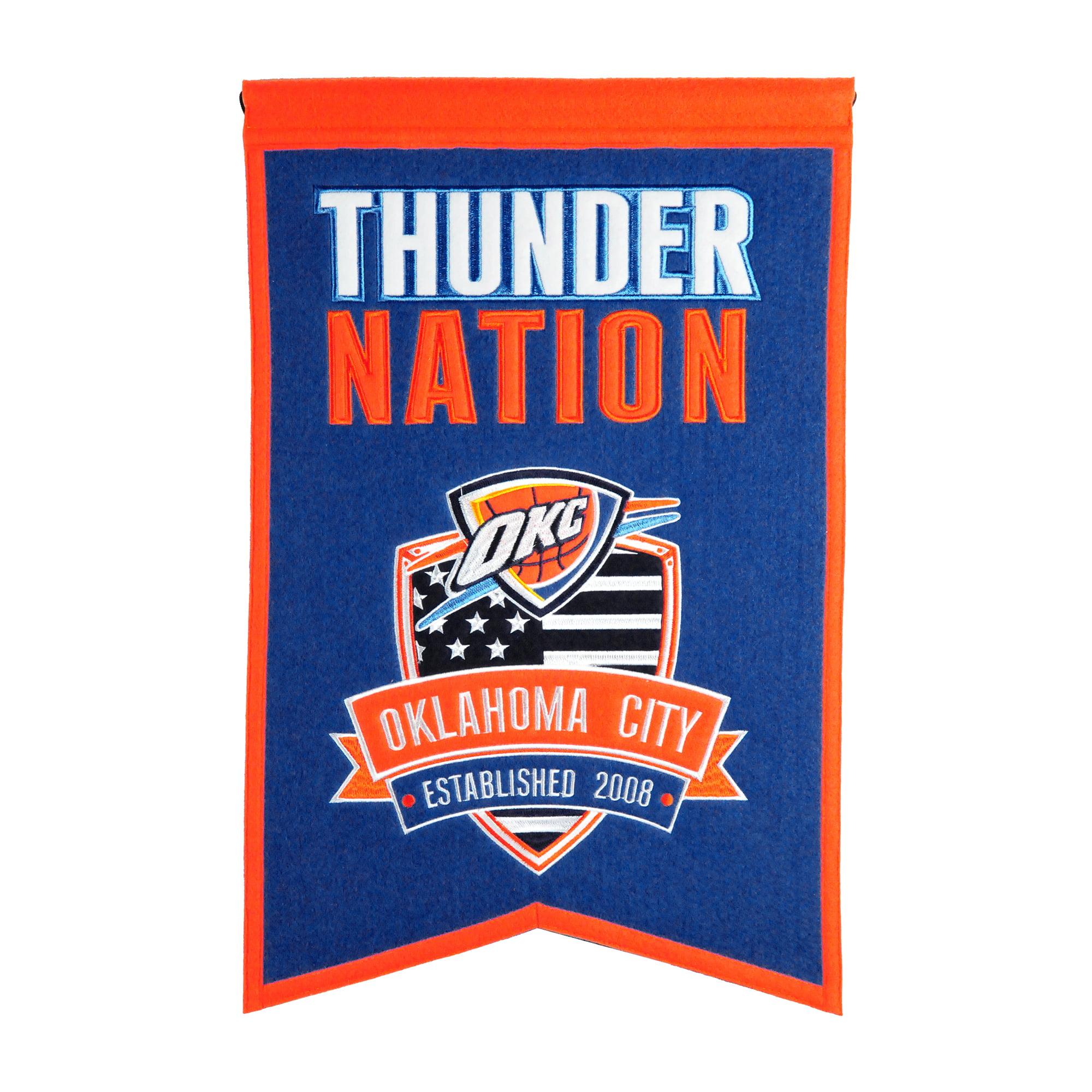"Oklahoma City Thunder 14"" x 22"" Nations Banner - No Size"