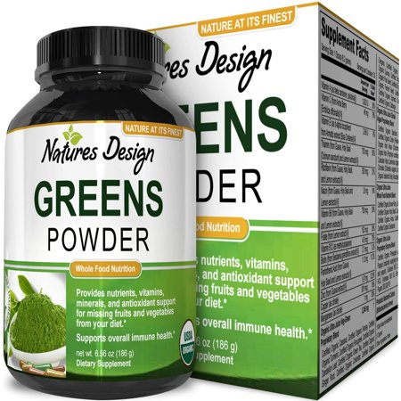 Natures Design Greens Powder Superfood Nutrition Mix with Healthy Organic  Vegetables and Fruits Energy Boost Supplement Weight Loss Support Balanced