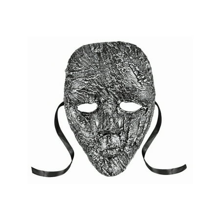 Halloween Textured Full Face Mask Silver - Halloween Textures