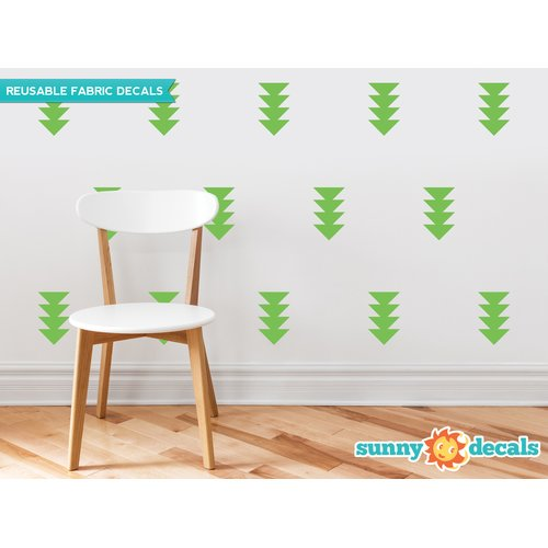 Sunny Decals Four-Triangle-Arrow Wall Decal (Set of 32)