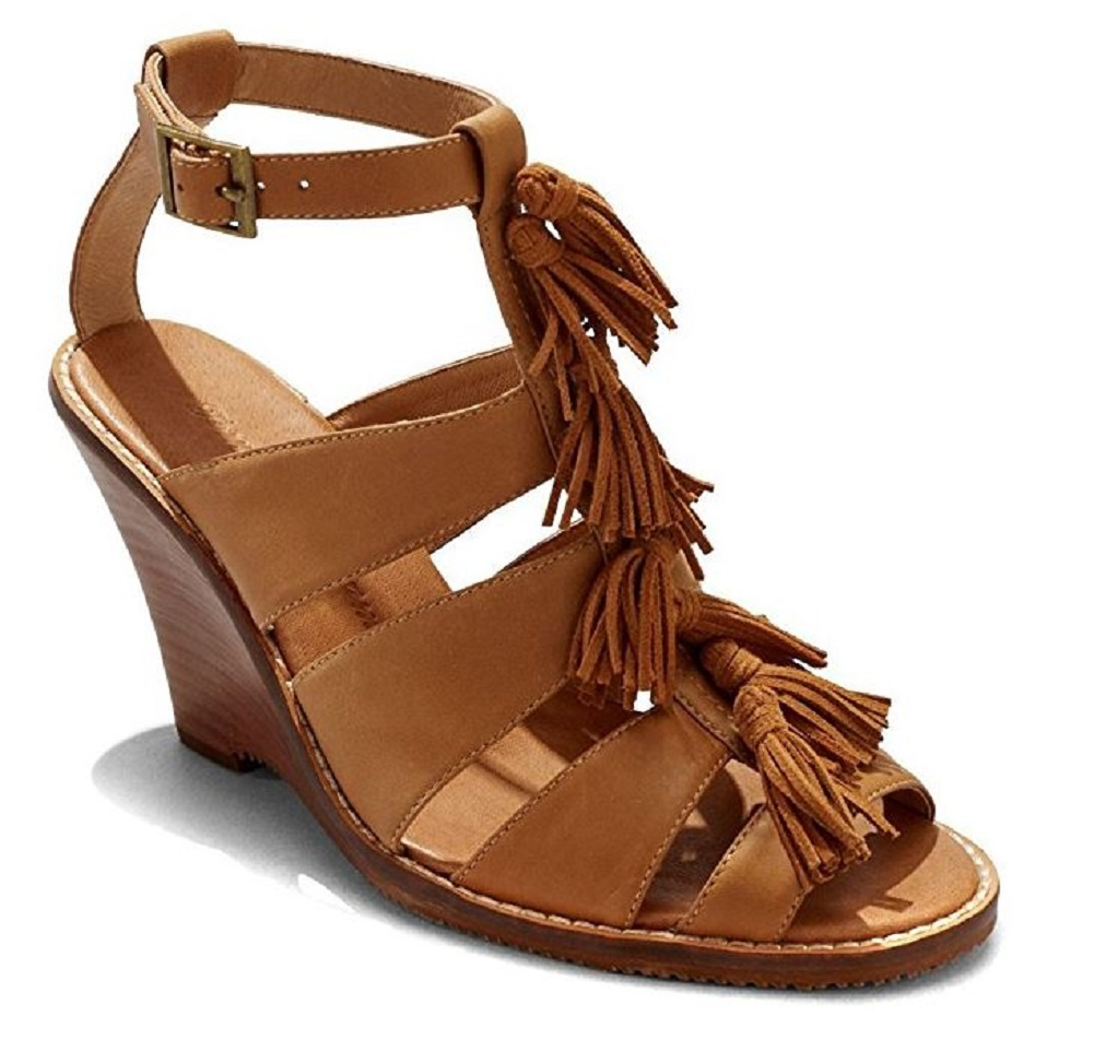 Tommy Bahama Women's Palrinna Wedge Sandals (Color: Whiskey, US 8) by