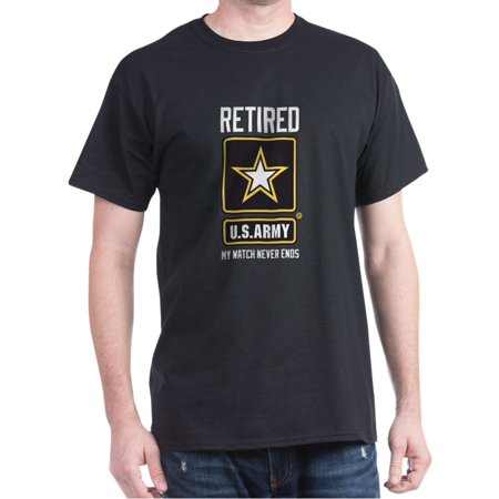 Us Army Fringed - US Army Retired Watch Never Ends - 100% Cotton T-Shirt